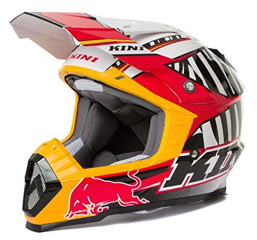 Kini Red Bull Helm Revolution Schwarz/Rot/Weiß S