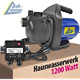 HAUSWASSERWERK HAUSWASSERAUTOMAT KREISELPUMPE JETPUMPE INNO-TEC 1200-1 mit AC10 Durchflusswächter Pumpe als Gartenpumpe...