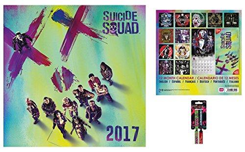 Set: Suicide Squad, Calendario Ufficiale 2017 (30x30 cm) e 1x Braccialetto (10x2 cm)