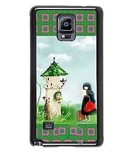 Printvisa 2D Printed Girly Designer back case cover for Samsung Galaxy Note 4 N910F / N910H - D4151