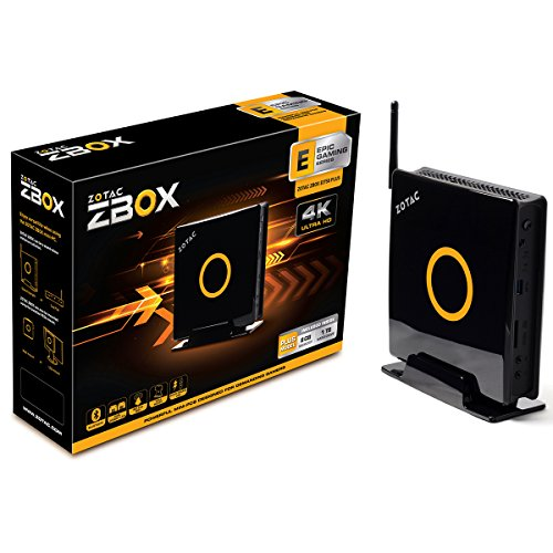 ZOTAC ZBOX E Series EI750 PLUS Workstation Mini PC with Intel Core i7-4770R quad-core Processor, Intel Iris Pro 5200 Graphics, Wi-Fi, Bluetooth, 8GB Memory, 1TB HDD, No OS Barebone System (ZBOX-EI750-PLUS-U) (Zotac Quad compare prices)