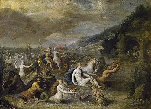 Oil Painting 'Francken Frans II Neptuno Y Anfitrite', 8 x 11 inch / 20 x 28 cm , on High Definition HD canvas prints is for Gifts And Basement, Kitchen And Nursery Decoration, on demand (Pacific Jazz Ii Collection compare prices)