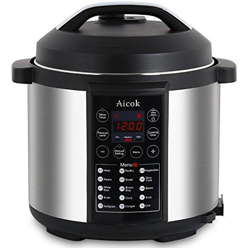 Aicok-7-in-1-Programmierbarer-Elektrische-Schnellkochtopf-Multikocher-Reiskocher-Dampfgarer-Kochtopf-6L-1000W