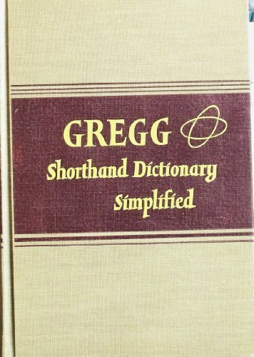 Gregg Shorthand Dictionary Simplified 9780070944121