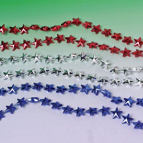 12 count Star Beaded Necklaces assorted colors