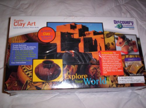 Discovery Channel Pueblo Clay Art Activity Kit and Pottery Wheel Refill