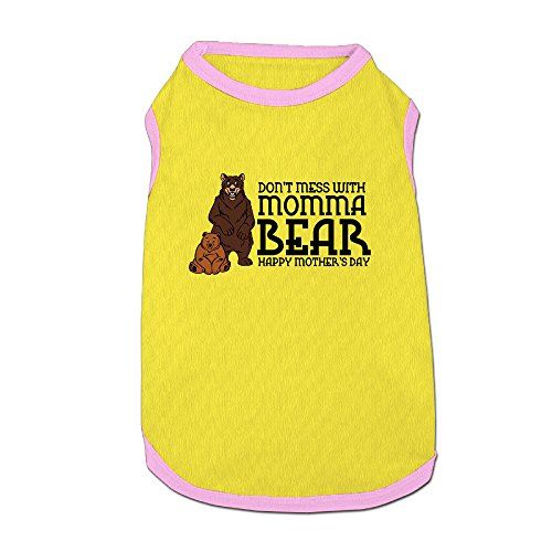 [Don't Mess With Momma Bear Pet Clothes For Puppy] (Grandma Moses Costume)