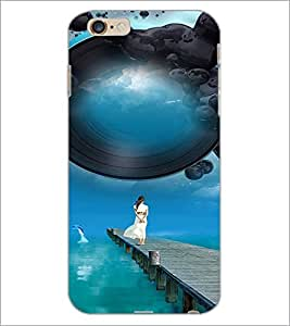 PrintDhaba Stranded Girl D-2508 Back Case Cover for APPLE IPHONE 6 (Multi-Coloured)