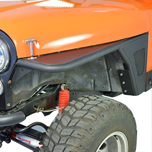 E-Autogrilles 97-06 Jeep Wrangler TJ Black Textured Tube&SS Mesh Front 3
