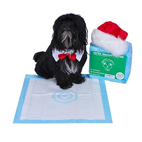 Absorbent Training Pee Pads with bulls eye pheromone technology - 50 Count (Bullseye Pads compare prices)