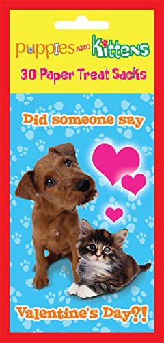Paper Magic Puppies and Kittens Valentine Treat Bags (30 Count)