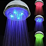 Great Value Shower Heads Water Flow Power Temperature Sensor 3 Color Changing LED Light Rainfall Shower Head