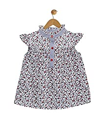 Budding Bees Infant Girls Grey Printed Dress