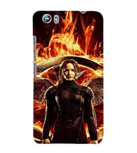 EPICCASE Katniss the warrior Mobile Back Case Cover For Micromax Canvas Fire 4 A107 (Designer Case)