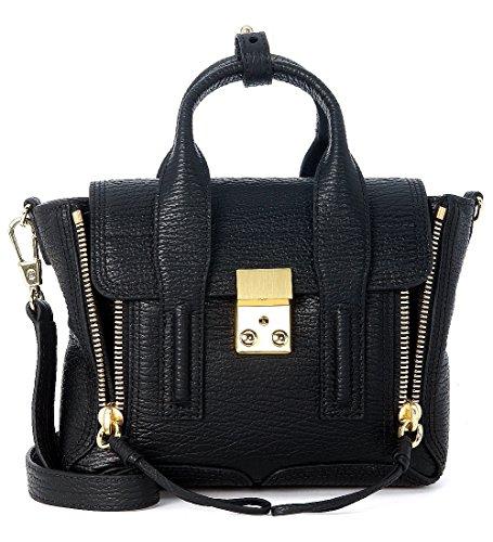 Handtasche-31-Phillip-Lim-Pashli-Mini-Satchel-Leder-Schwarz