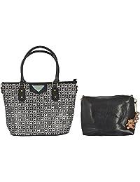 Limit Women's PU Handbag (Black, IDB03)