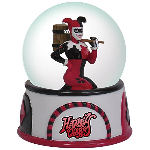 Westland Giftware Resin Water Globe, DC Comics Harley Quinn, 65mm