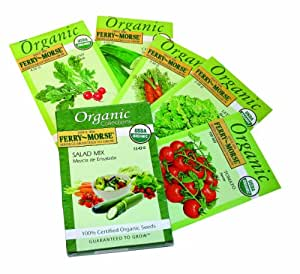 Ferry-Morse 3243 Organic Seed Collection, Salad (13.43 Gram Packet) (Discontinued by Manufacturer)
