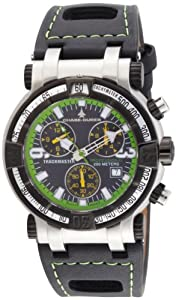 Chase-Durer Men's 224.2BE-LEA Trackmaster Pro Chronograph 2nd Edition Green-Stitched Leather Watch from Chase Durer