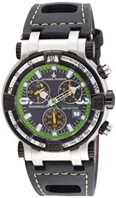 Chase-Durer Men's 224.2BE-LEA Trackmaster Pro Chronograph 2nd Edition Green-Stitched Leather Watch by Chase Durer