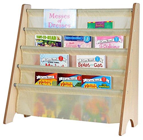 tot tutors book rack naomi home kids toy sling book rack creamnatural - Tot Tutors Book Rack Primary Colors