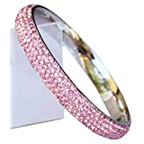 Bangle: with 5 Rows of Beautiful Sparkly Crystals – Baby Pink – Stackable