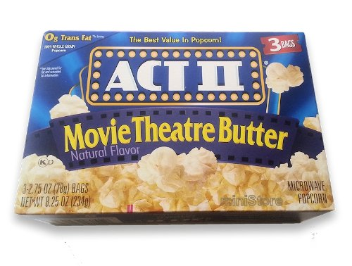 Microwave Popcorn Act Ii Movie Theatre Butter 8.25 Oz. &...