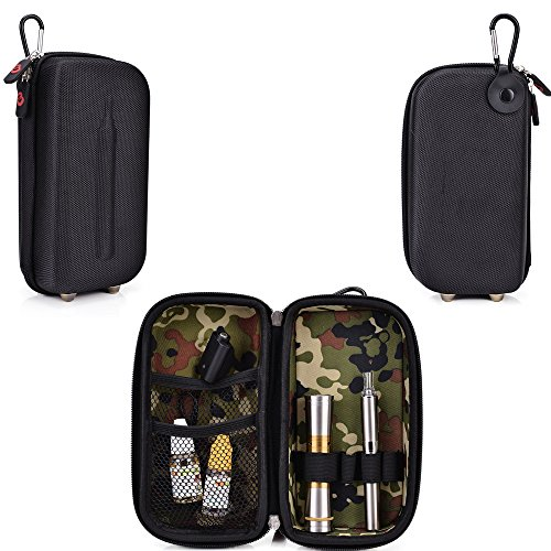 Travel Vape Case-Universal Design In A Black Compatible With The Lg-1000 Disposable E-Cigar