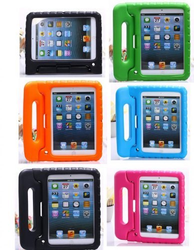 Carry360 Kids Safe Shock Proof Thick Foam Case Handle Stand For Ipad 2/3/4 With Handle(Color Black)