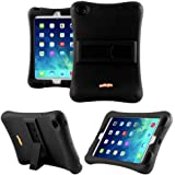iPad Mini Case, Anitoon Amplifier Speaker iPad Mini Case [Fits iPad Mini 3/2/1 Generations] BLACK Cover With Armor Body