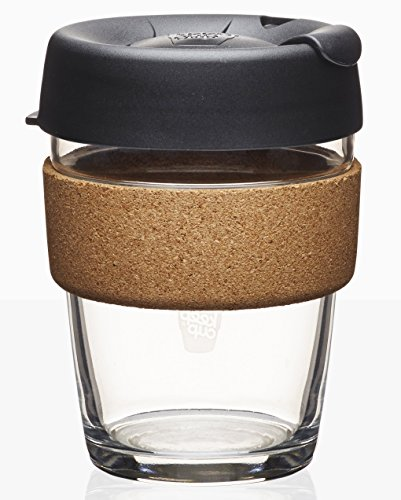 KeepCup Brew Glass Reusable Coffee Cup, 12 oz, Espresso [+Peso($29.00 c/100gr)] [+Peso($29.00 c/100gr)] (US.AZ.26-0-B01C32Y2II.387)