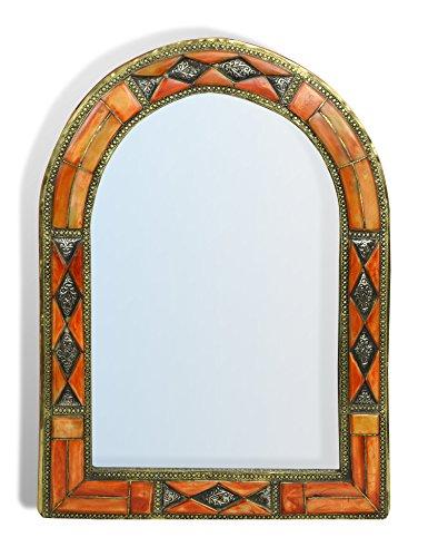 arche-miroir-marocain-avec-insert-en-metal-diamant-orange-henne-h50-35-cm-offre-limitee-