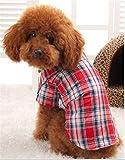 犬服  チャック柄のシャツ Tシャツ 犬 服 犬洋服 ペットグッズ【犬の服】 小型犬・中型犬 (L)
