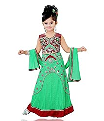 Mint Green Girls Lehenga Choli