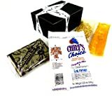 Premium Popcorn 3-Flavor Variety: One 5.25 oz Package of Chief's Choice Premium Theater Quality Popcorn, One 8 oz Package of Kernel Pops Perfect Popcorn, and One 3 oz Package of J&D's BaconPOP Bacon Flavored Popcorn in a Gift Box