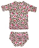 RuffleButts Wild Child de volantes Rash Guard Bikini-3-6M Tamaño: 3-6meses (Baby/Babe/Infant-Little Ones)