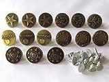 usausaのお店 デニム・ジーンズ用メタルボタン 12個セット(17mm)