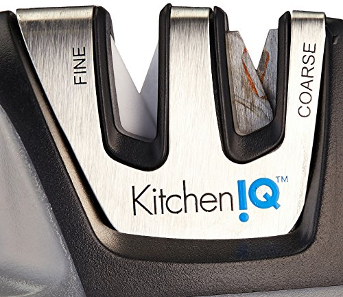 Details about KitchenIQ 50009 Edge Grip 2 Stage Knife Sharpener, Black ...