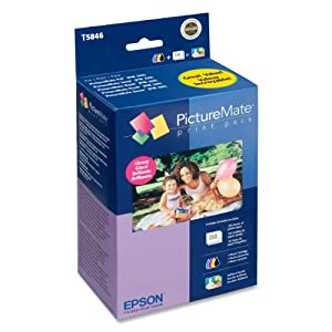 Epson T5846 Picturemate 200-series print pack (includes ink & paper), glossy, 4 x 6, 150 sheets