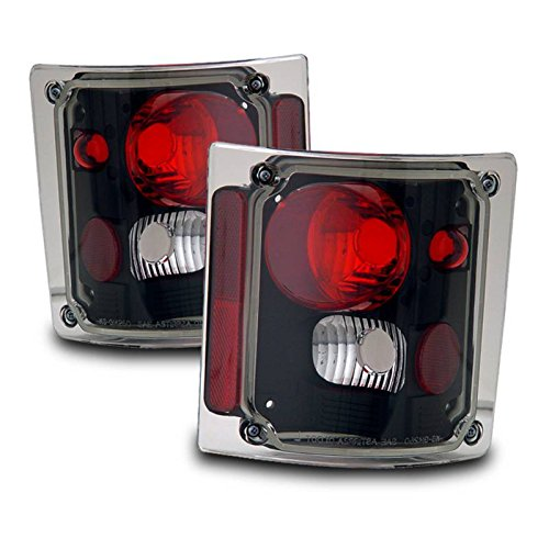 SPPC Black Euro Tail Lights For Chevy Full Size - (Pair) (73 Chevy Truck Taillights compare prices)