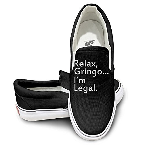 TAYC Relax, Gringo... I'm Legal - Funny Mexican, Latino, Spanish Immigrant Cool Sneaker Black (How To Make Ghostbuster Costume)