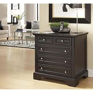 Home Style 5531-93 Bedford Expandable Desk, Black