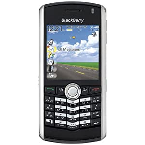 BlackBerry Pearl 8100 Unlocked Phone with Quad-Band GSM,GPRS, EDGE, 1 MP Camera, Camcorder and bluetooth v2.0 compatible - International Version with No Warranty (Black with Silver)