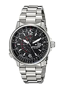 Citizen Men's Nighthawk Eco-Drive Watch BJ7000-52E, Stainless Steel