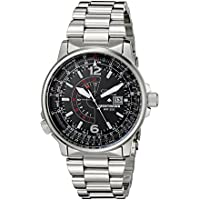 Citizen BJ7000-52E Mens Nighthawk Stainless Steel Eco-Drive Watch