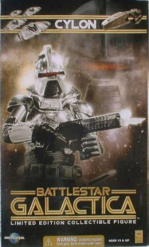 Picture of Majestic Studios Classic Battlestar Galactica Silver Cylon Centurian 12 Inch Action Figure (B001QB5TNK) (Majestic Studios Action Figures)
