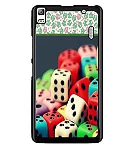 PrintDhaba Dices D-3611 Back Case Cover for LENOVO K3 NOTE (Multi-Coloured)