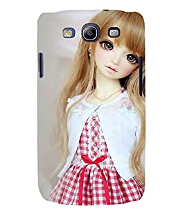Printvisa Baby Doll Dressed Up In Red And White Dress Back Case Cover for Samsung Galaxy S3 Neo::Samsung Galaxy S3 Neo i9300i