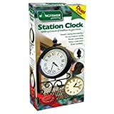 DUAL FACED GARDEN CLOCK. PADDINGTON STATION LONDON. PATIO TRADITIONAL VICTORIAN