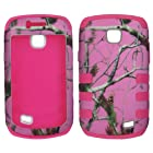Hybrid 3 in 1 Pk Pink Camo Realtree Samsung Galaxy Proclaim SCH-S720C NET 10 Straight Talk / Illusion i110 Verizon Case Cover Hard Phone Case Snap-on Cover Rubberized Touch Faceplates